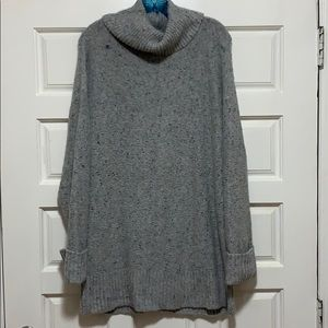 Gray speckled sweater